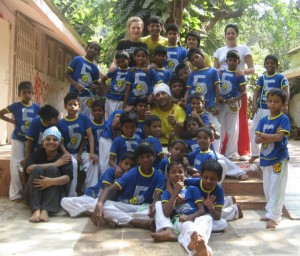 Indian Street Children Trained in Capoeira