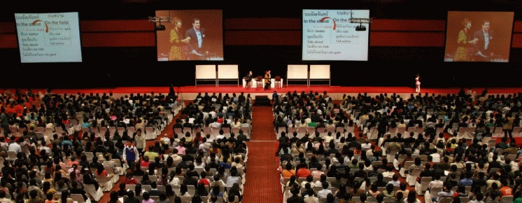 This Landmark Forum in Bangkok, Thailand, was attended by more than 2,000 people.