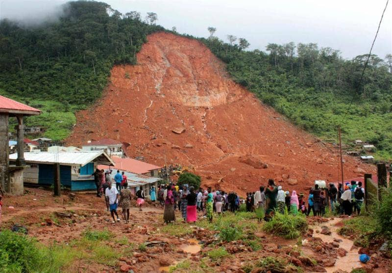 Sierra Leone Rising Assisting Mudslide Victims