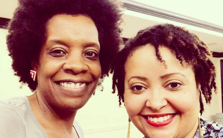 Front Porch Arts Center co-founders Vanessa Stokes (left) and Keli Stewart
