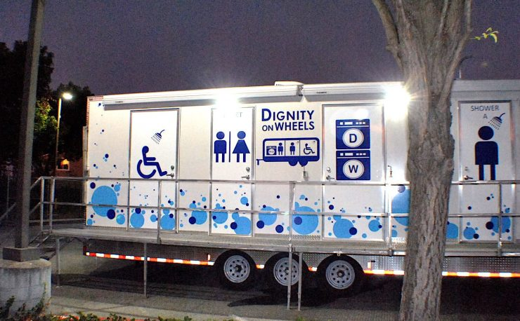 Dignity on Wheels trailer