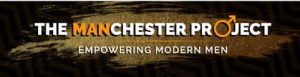 "Logo for The MANchester Project. The text reads: ""The MANchester Project. Empowering modern men."""